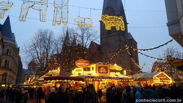 A Feira de Natal de Bremen, Alemanha