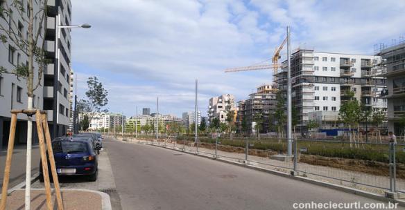 A rua onde fica o Vienna Park Hauptbahnhof Apartments