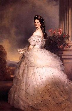 Sisi a Imperatriz da Áustria. Fonte:Wikipedia
