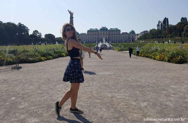 Este é o Palácio Belvedere em Viena.