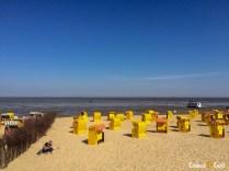 As barraquinhas de praia.