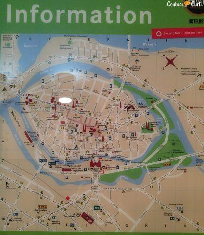 Mapa de Lübeck.