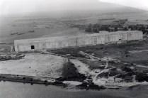 Bunker Valentin depois de um bombardeio em 1951. Foto: Denkort Bunker Valentin