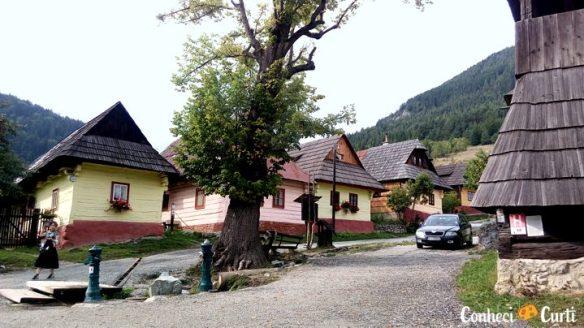 A aldeia Vlkolínec, Eslováquia.