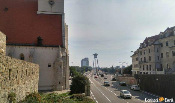 ruínas, Catedral, avenida, Ufo, Bratislava