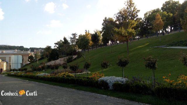 Jardins do Castelo de Buda.
