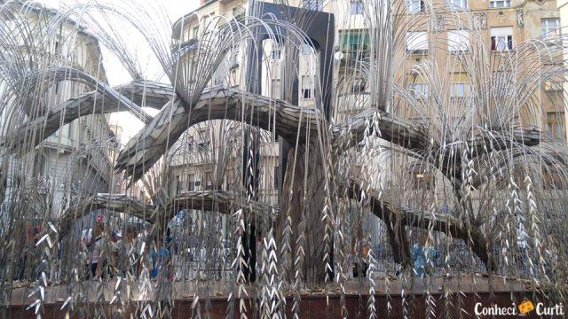 A Árvore da Vida na Sinagoga de Budapeste.