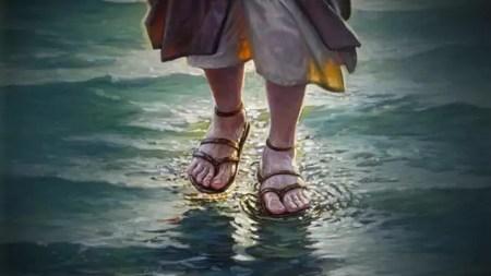 andar sobre as aguas - Os Milagres de Jesus