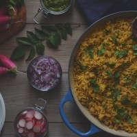 chickpea biryani done an easier way