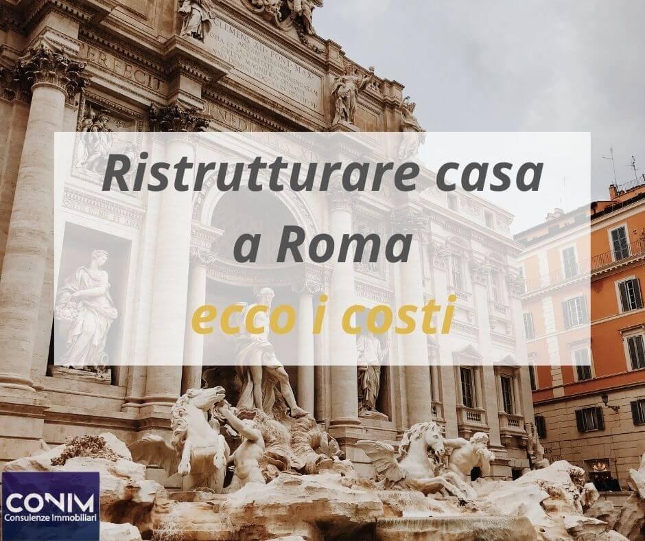 Ristrutturare casa a Roma costi