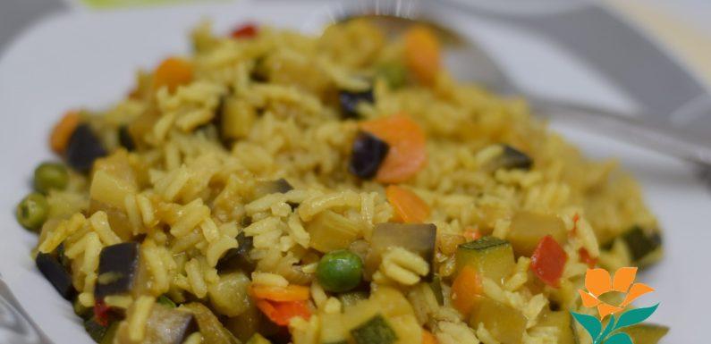Arroz con verduras sin gluten