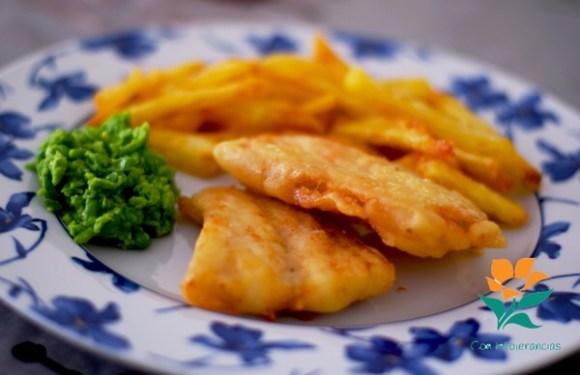 Fish & Chips sin gluten, sin huevo y sin lácteos