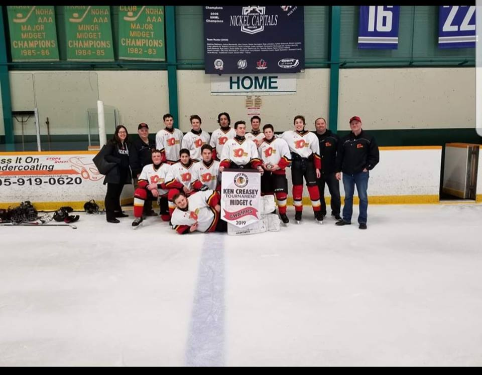 Coniston Minor Hockey Midget C Gold