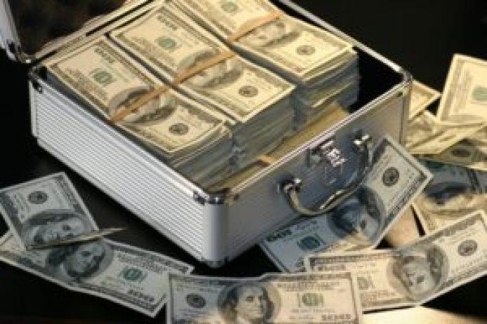 米ドルの札束