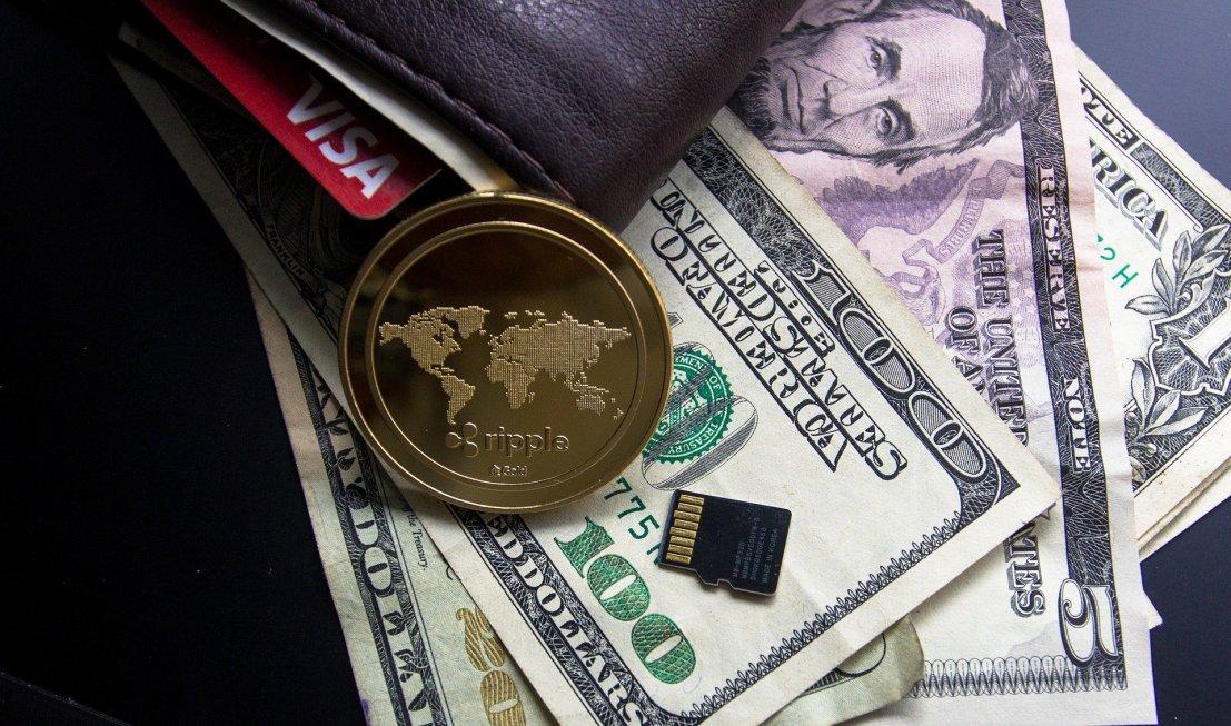 財布と米ドル