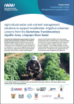 Agricultural water and nutrient management solutions to support smallholder irrigation schemes: Lessons from the Ramotswa Transboundary Aquifer Area, Limpopo River Basin