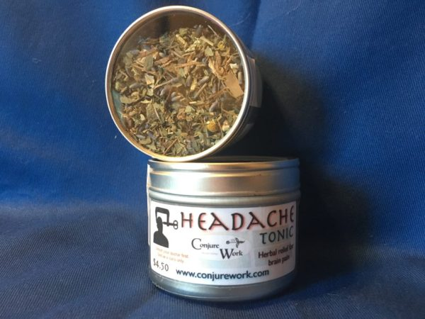 Headache Tonic, at Conjure Work, for relief of migraines and tension headaches, magick
