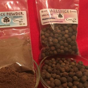 Allspice, Pimenta dioica, money and sweetening spell herbs at Conjure Work, sorcerous goodies for Hoodoo and Pagan magick
