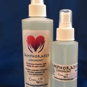 Camphorated Liniment, Hoodoo style muscle relief, at Conjurework