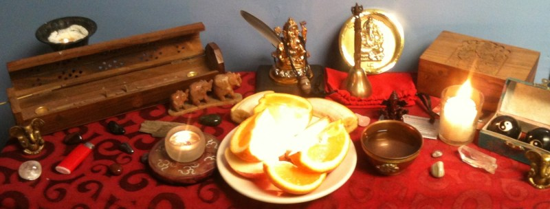 Ganesha light and offering, set for a patron by Magus (Kevin Trent Boswell)