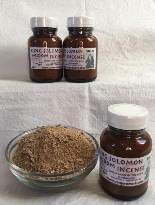 King Solomon Wisdom Incense at Conjure Work, sorcery supplies and services, witchcraft and Hoodoo products by Magus (Kevin Trent Boswell)