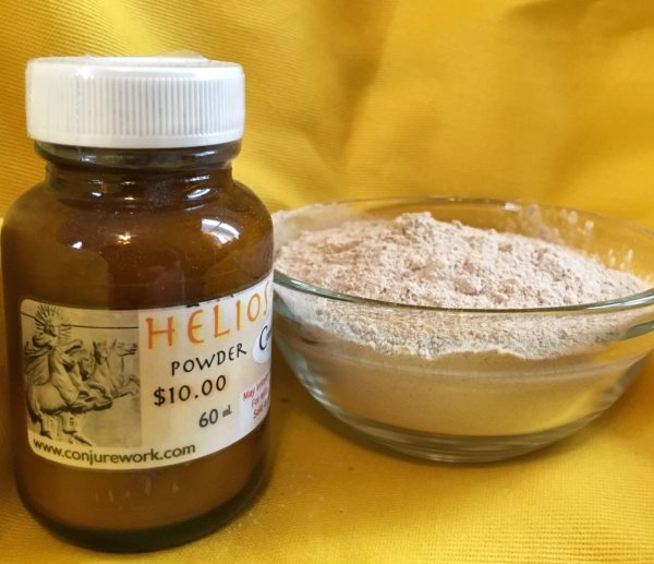 Helios Powder at Conjure Work, Pagan supplies and services, tarot, astrology, spells and Hoodoo products by Magus (Kevin Trent Boswell)