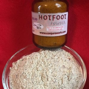 Hotfoot Powder at Conjure Work, sorcery supplies and services, witchcraft and Hoodoo products by Magus (Kevin Trent Boswell)