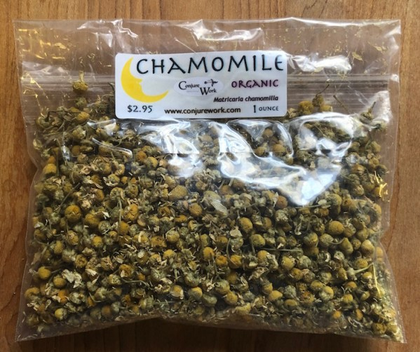 Chamomile herb at Conjure Work, sorcery supplies services, witchcraft Hoodoo products high magick