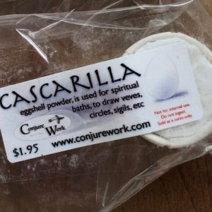 Cascarilla, egg shell powder for Veves, Loa, Orishas, ConjureWork.com