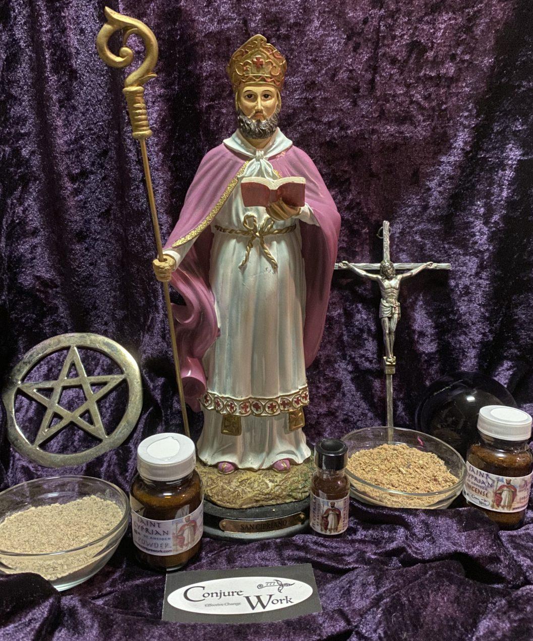 Saint Cyprian of Antioch, oil, powder, incense, Conjure Work, sorcery supplies