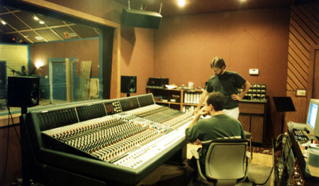 Tommy Brothers and Trent Boswell in Audio Genesis studio for the Flagship album