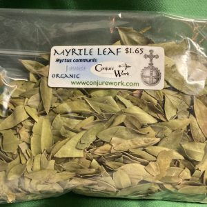 Myrtle Leaf, Myrtus communis, sorcery, Conjure Work, herbs, magick, Golden Dawn, Solomonic, Wicca, astrology