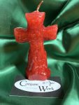 Cross Candle, red, candles in the Conjure Shop at Conjure Work
