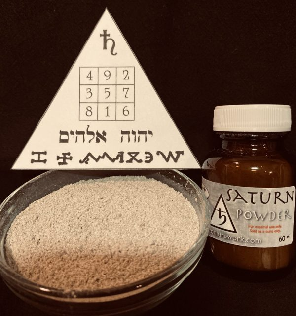 Saturn Powder, the Planet of limitation and binding; Conjure Work, spell supplies and services