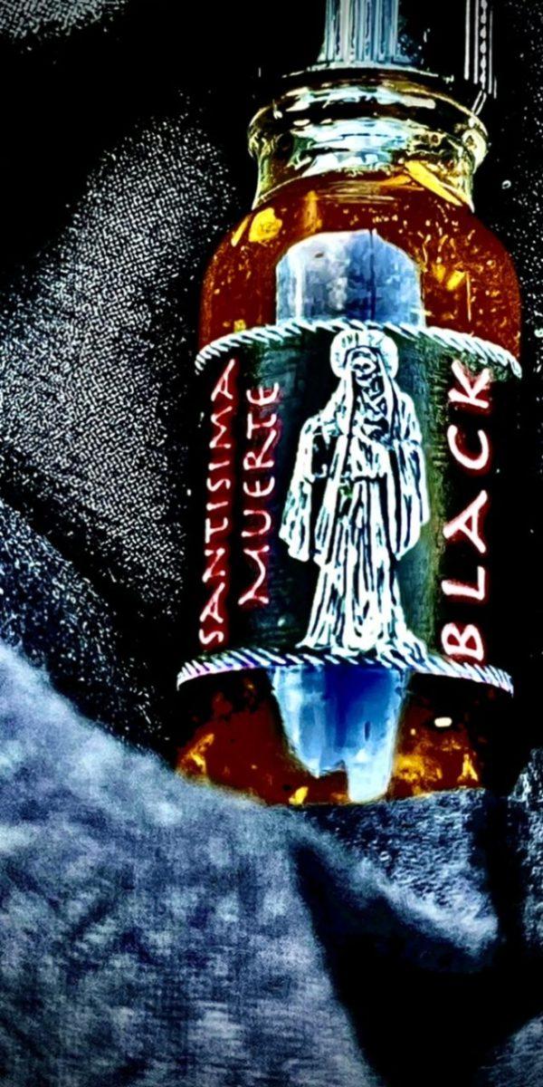La Santisima Muerte Oil, Black - Conjure Work Hoodoo supplies and services
