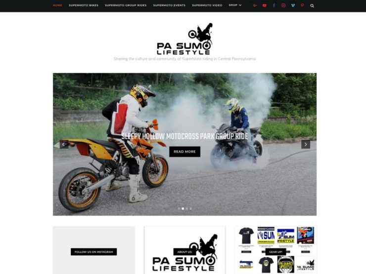 PA SUMO Lifestyle Website Screenshot
