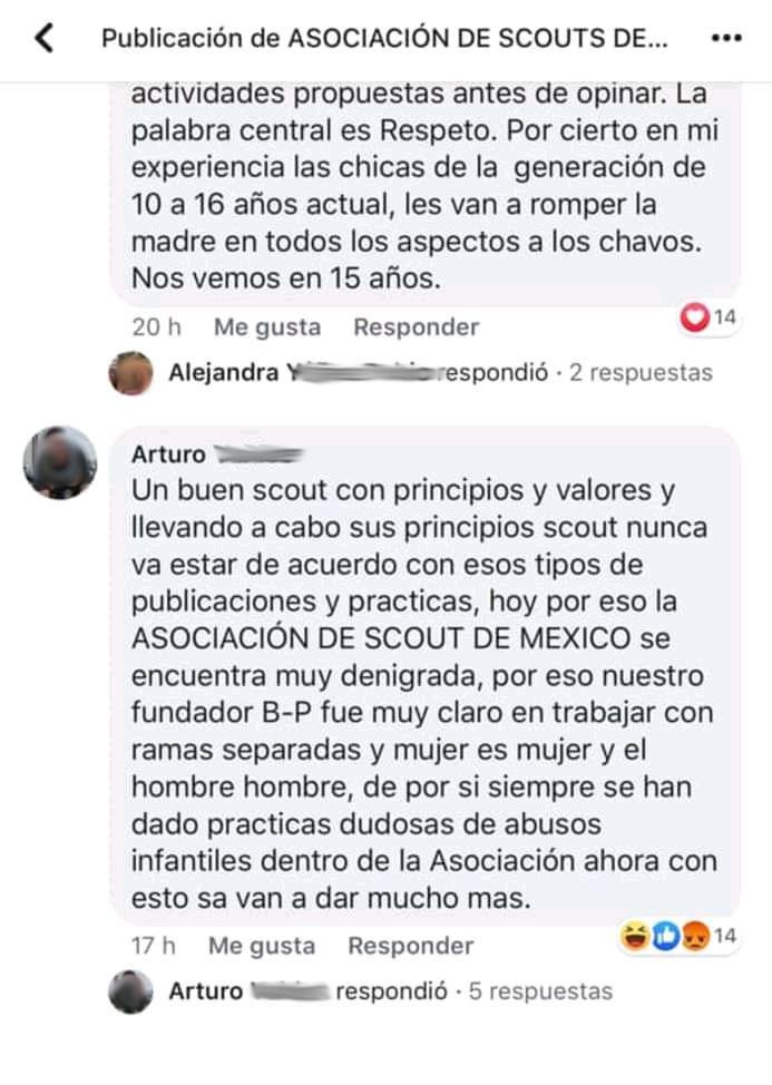 Muestra del odio vertido en Facebook por llamar a un mundo más justo.