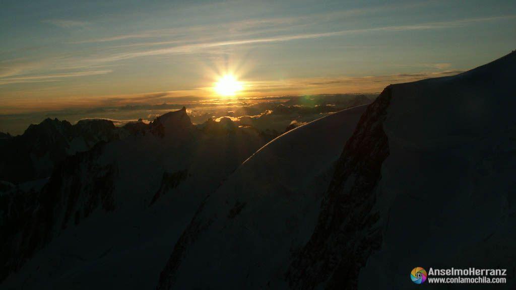 Amanecer en el Mont Blanc - Chamonix