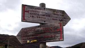 Carteles del Camino Lebaniego - Cantabria - España