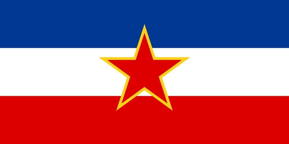 Bandera de la Antigua Yugoslavia