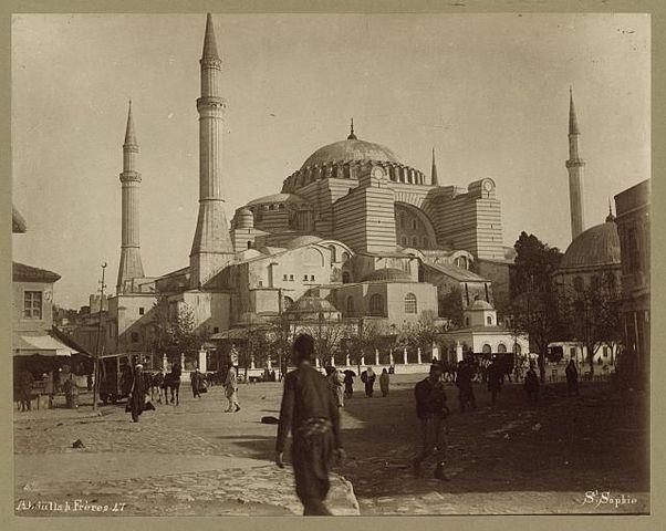 Santa Sofía en tiempos de los Otomanos - Foto: Wikipedia