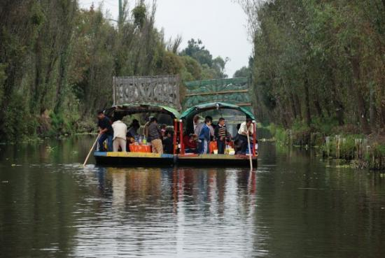 Trajineras unidas para una fiesta - Xochimilco - México