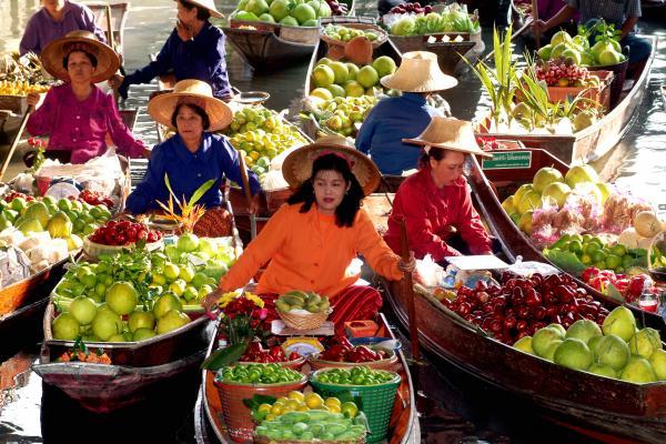 Mercado Flotante Bangkok - Tailandia