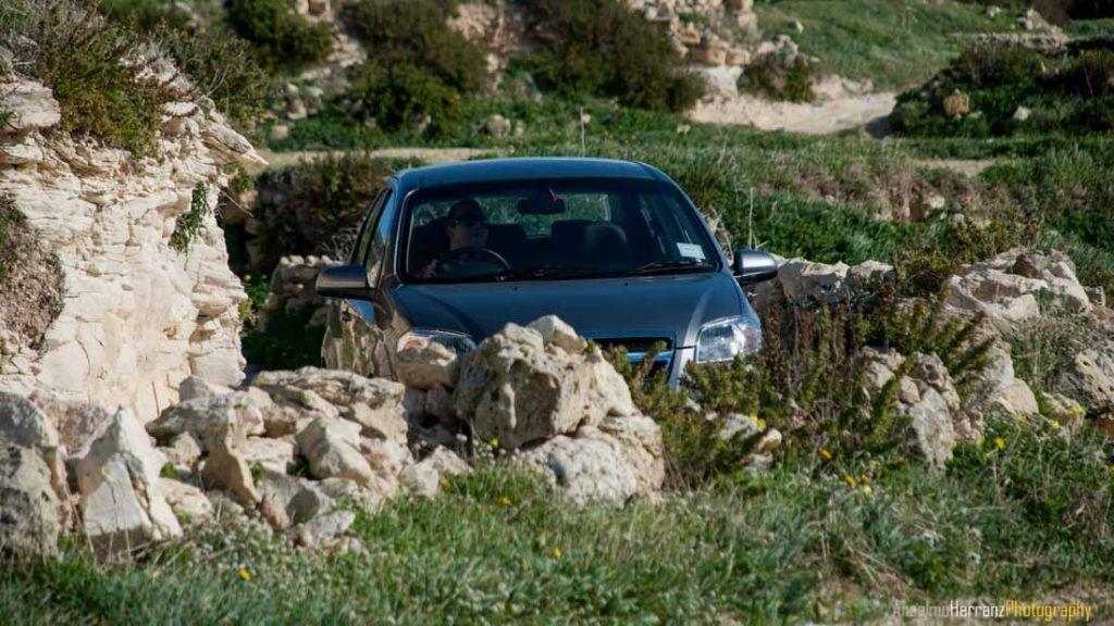 Los estrechos caminos de la isla de Gozo - Malta