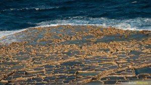 Estructura de las Salinas de Qbajjar, en la isla de Gozo - Malta