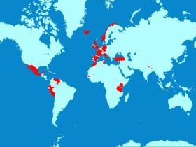 Mapa de países visitados