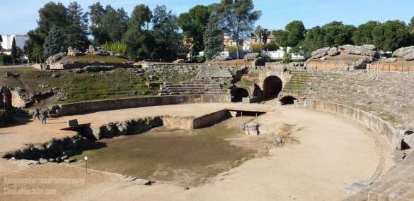 Visita al anfiteatro romano de Mérida – Badajoz – España