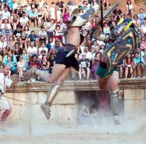Los gladiadores del anfiteatro romano de Mérida