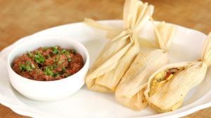 Tamales en hoja de maíz
