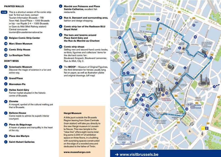 Comic Strip Wall Map - Brussels